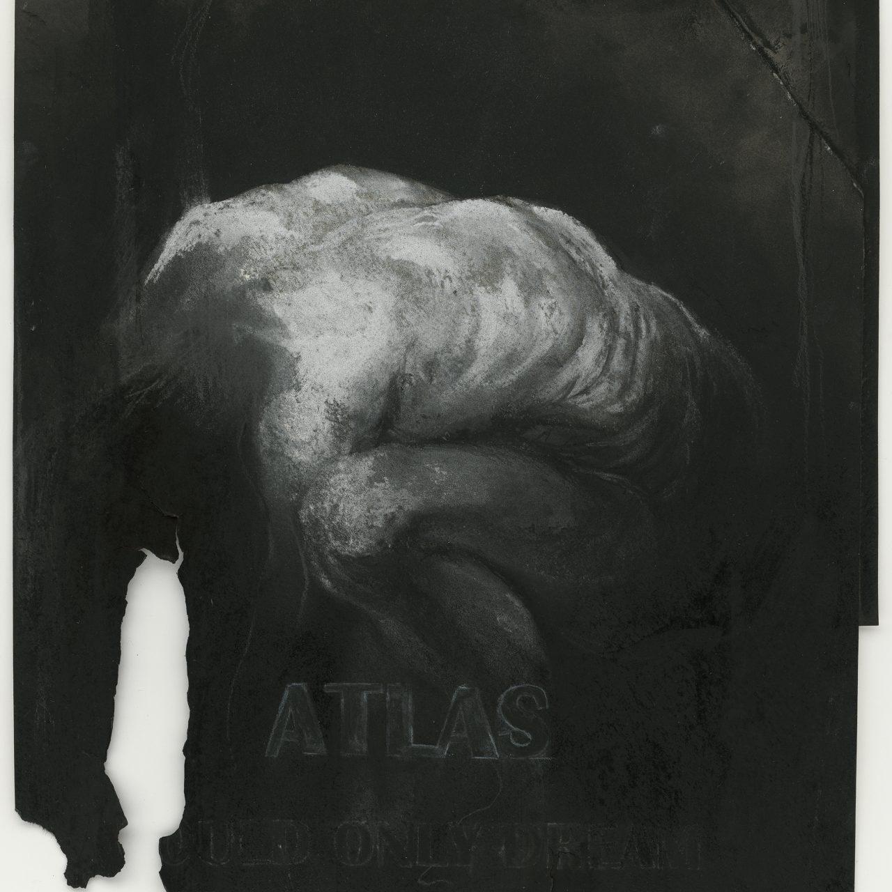 scan van gebrande tekening, potlood, acryl, gouache en aquarel op papier, © Michaël Aerts