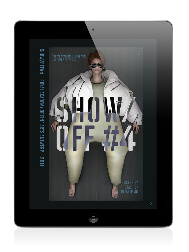 Show Off #4, iPad app., © Antwerp Fashion Department