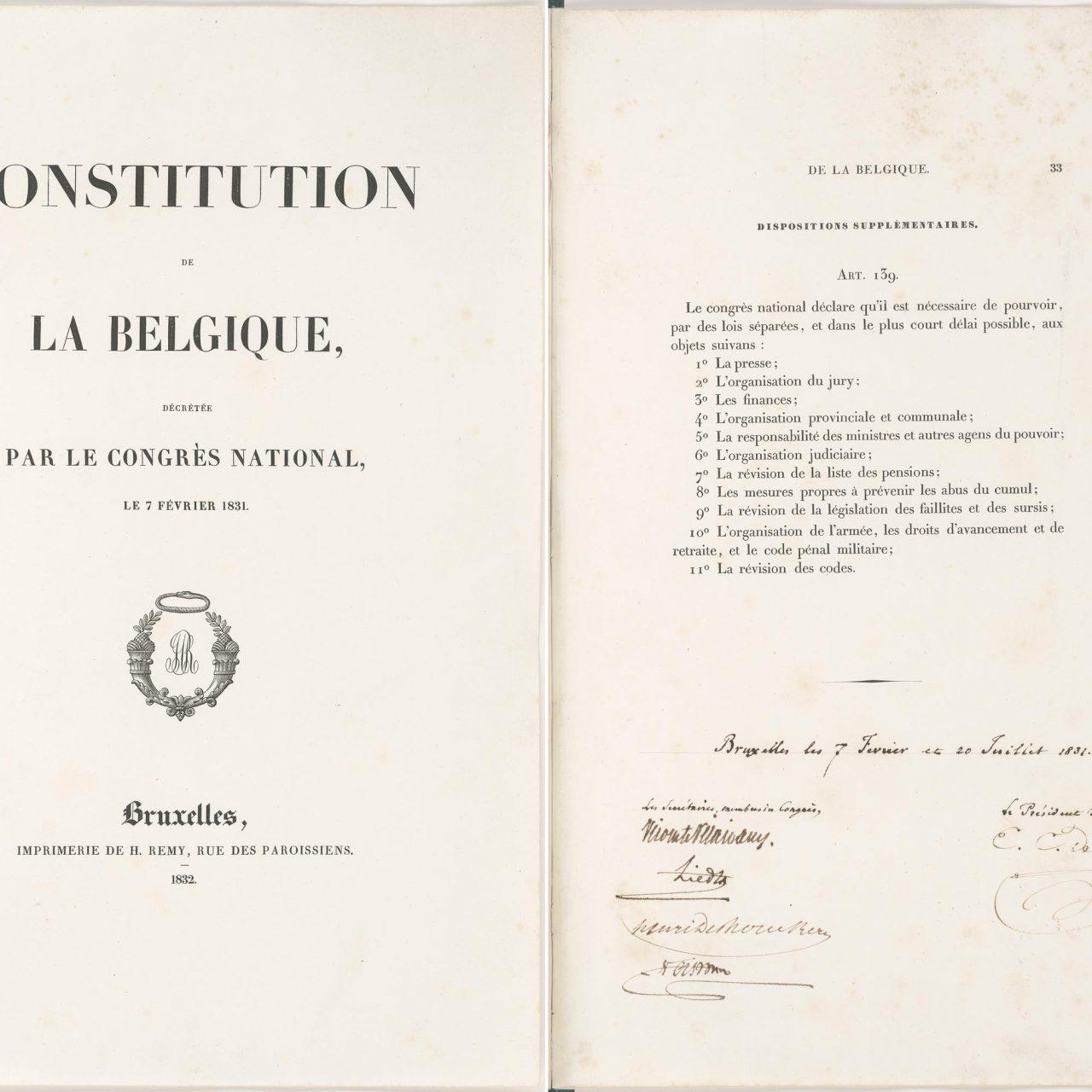 Constitution de la Belgique