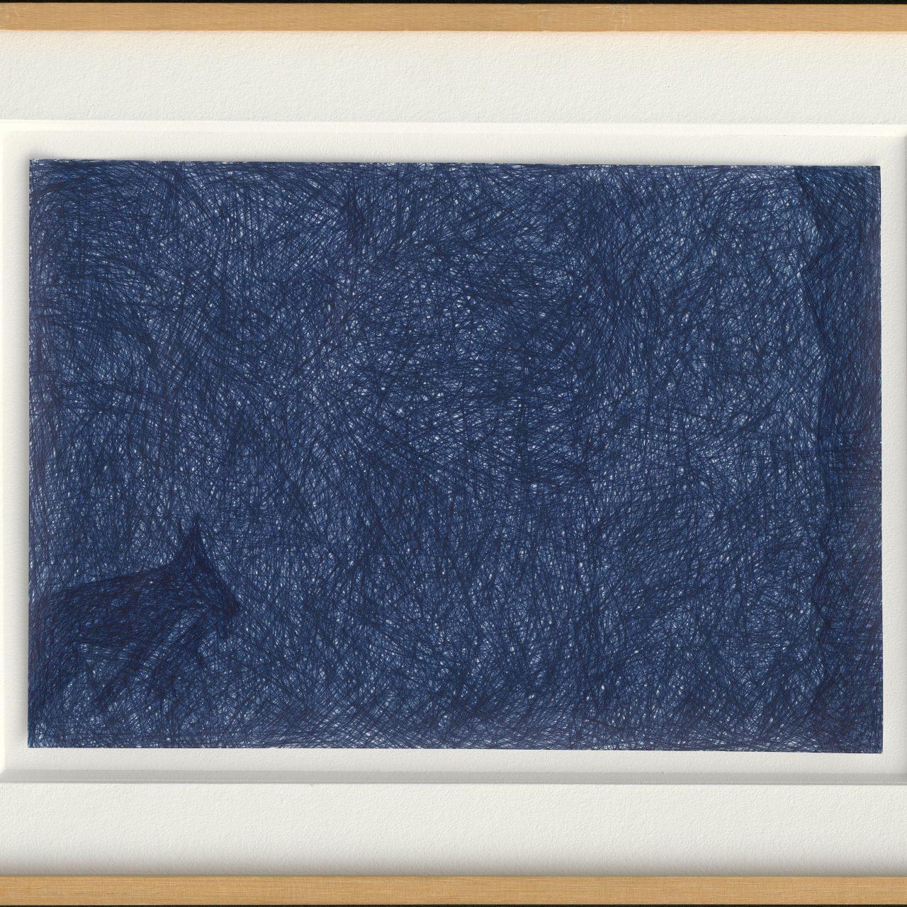 scan van ingelijste tekening, balpen op papier, © Jan Fabre