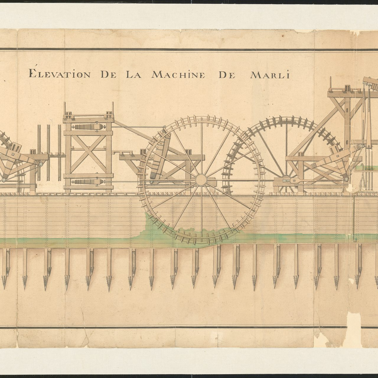 Technische tekening, La Machine De Marli, © Cruse