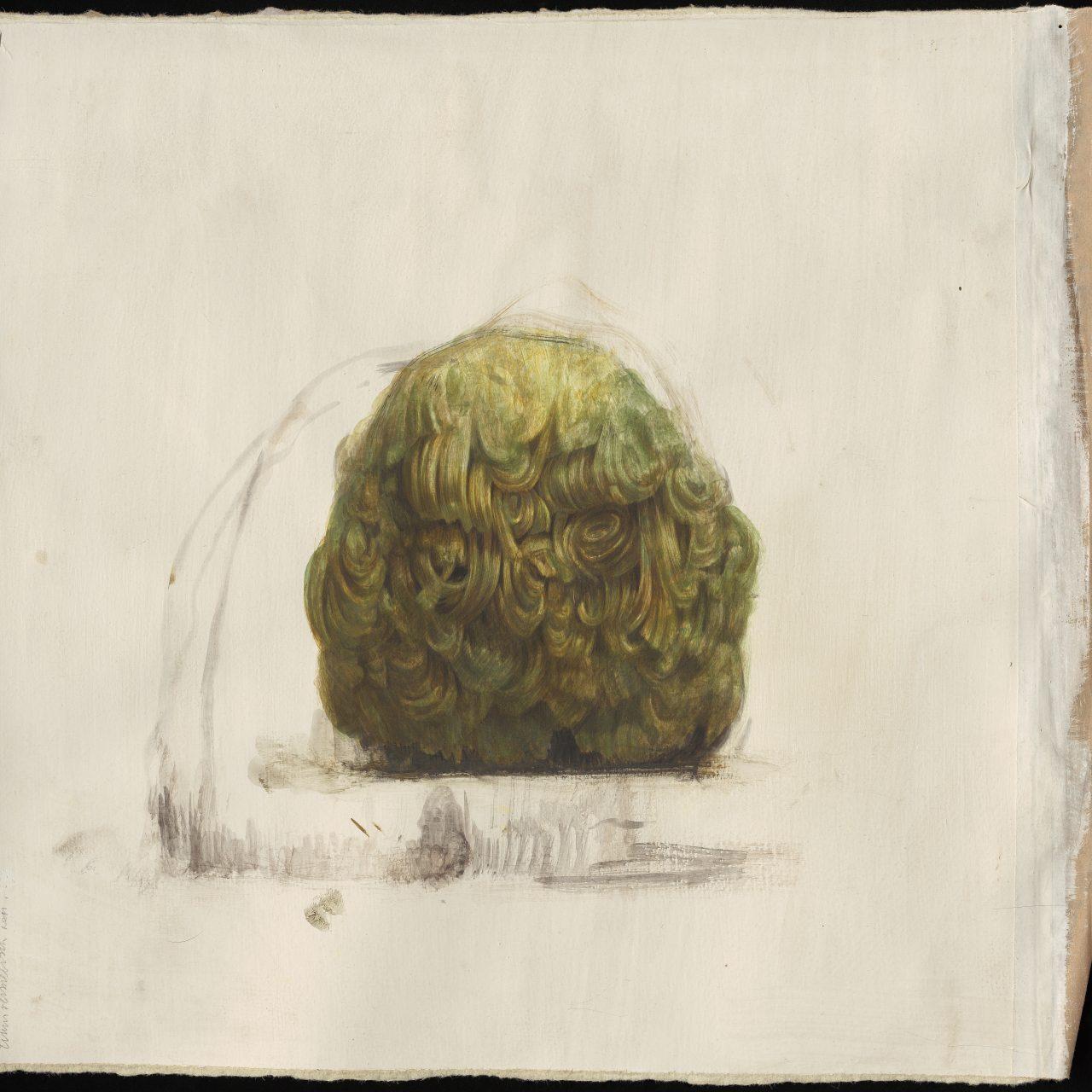 scan van tekening, tempera op geprepareerd papier, © Tinus Vermeersch